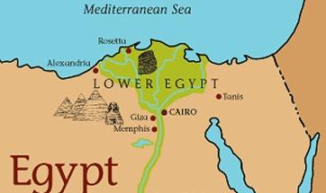 Leaving Egypt - Map of egypt goshen
